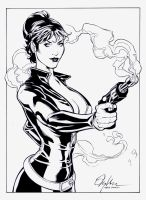 Modesty Blaise: Inks by boysicat