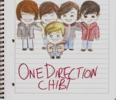 One Direction chibi version by TheGreyTeddyBear