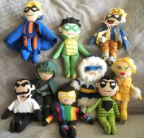 Nine Plushie Rogues by furrychaos