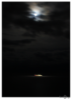 Boat under the moonlight by smaccks