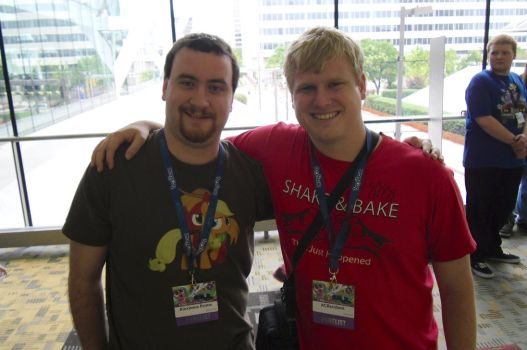BronyCon 2014:  Me and ACRaceBest! by AleximusPrime