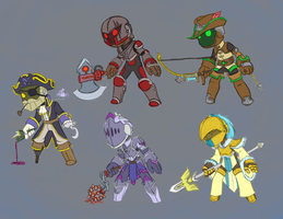 Spiral Knights- Armor Ideas by MakingBelieve