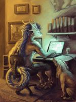 Commission - Rooth Browsing by dragonictoni