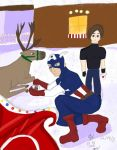 MvC3 Christmas contest Leon and Captain America by Umeki-18