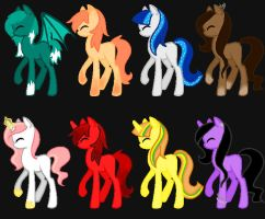 Pony Adopts Batch 2 -CLOSED- by booklover4life