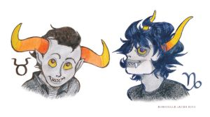 Gamzee and Tavros by HibikiDuskstar
