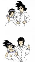 Goku and ChiChi's Wedding by starrdust411