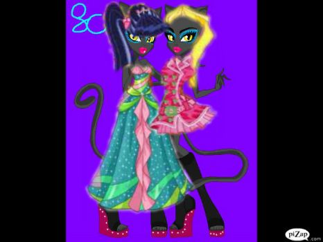 mh oc's destiney and lexi by mhvampirequeen