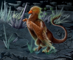 Alien Bird in a Distant World by TinTans