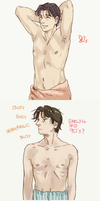 Tenma's Physique by cloverinblue