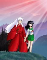 Inuyasha and Kagome by Utukki-Girl