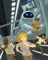 Wall-E: Colony Crisis Cover by gryphonworks