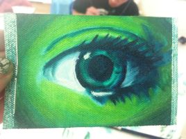 oil eye painting analogous by clearfishink