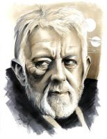 Obi-wan Portrait by andypriceart