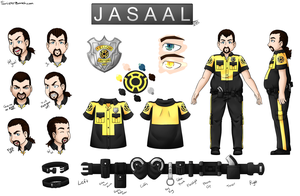 Jasaal Character Ref - Beginning by SinisterBunneh