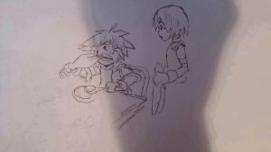 Sora eating animation pencil test by davidsobo