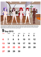 September 2015 Calendar by quamp
