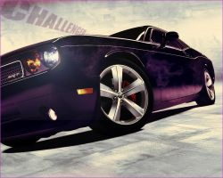 Dodge Challenger Ghost Flames by Thorinn