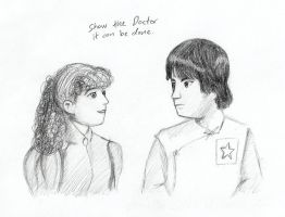 Request Sketch:Nyssa and Adric by SuperheroGeek13