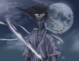 afro samurai fan art by spidey0318