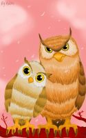 owls in love by Helsic