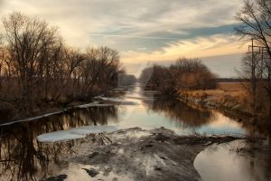 The Skunk River near Sunset by lividity101