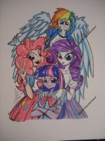 Equestria Girls Poster by PonyGoddess