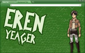 Attack on Titan Google Chrome Theme: Eren Yeager by yohohotralala