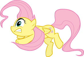 Fluttershy slipping by FabulousPony