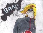 Art is a Bang (Deidara Fan Art) by quickwing23