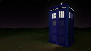 TARDIS in a Field by Lance-Wagner