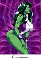 She Hulk 4 by Garrett Blair by Mythical-Mommy