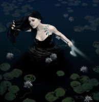 Woman before weilder, Viviane Lady of the Lake by tonyob