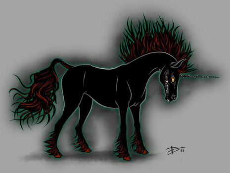 Dark Unicorn by HaloGhost