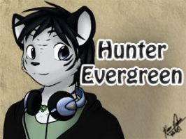 Hunter Evergreen - Con Badge by mewgal