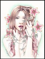 The lady of the clematis by be-a-sin