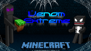 Venom Extreme VS Enderman - Wallpaper by vcdesenhos