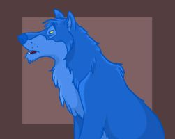 jungle wolf: blue by uncertain-certainty