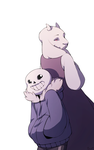 Sans and Toriel. by Cheroy