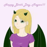 Happy birth day Megan by LilSnowFox
