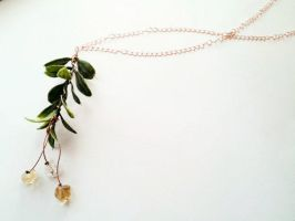 Citrine Hanging Fruit Necklace by cranegoose
