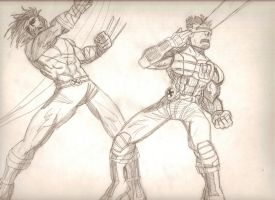 wolverine and cyclops by Jarrett-Ervin