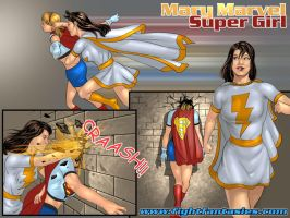 Supergirl vs Mary Marvel by supergirl2006