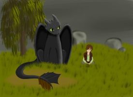 Hiccup and Toothless by terronsitodasucar