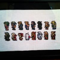 Final Fantasy 3/6 cross stitch by PolygonRainbow