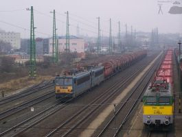Freight trains in Gyor on 2011 by morpheus880223