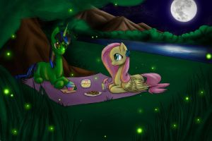 When the fireflies shine the brightest by IfreakenLoveDrawing