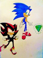 Fight for Chaos Emerald by DarkGamer2011