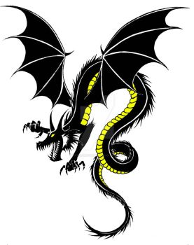 dragon tattoo by KatieConfusion