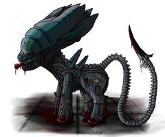 My Little Pony: Xenomorph by Super-Zombie